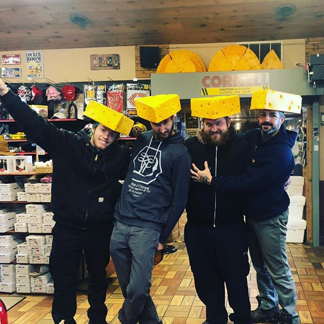 We're nacho average punk band. Just your average jackasses. Anyway we made it to #wisconsin and we're stoked to play the #warehouse in #lacrosse tonight! See y'all there! #cheesy #northamerica #tour #2018 #punk #rock #music #docrotten