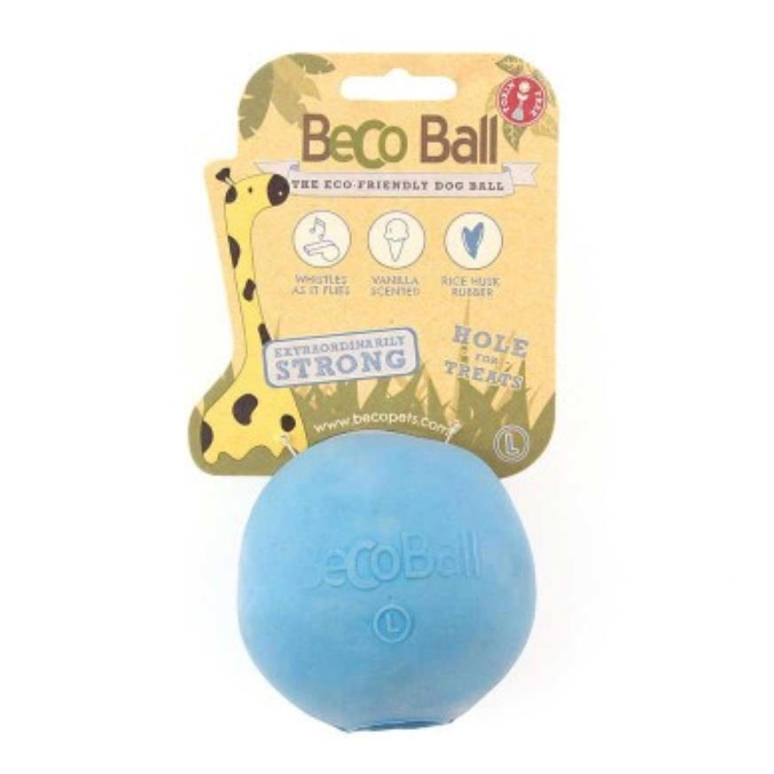 BecoBall - For doggos who love fetch, try the BecoBall, a non-toxic ball made from sustainably sourced rice-husk rubber.