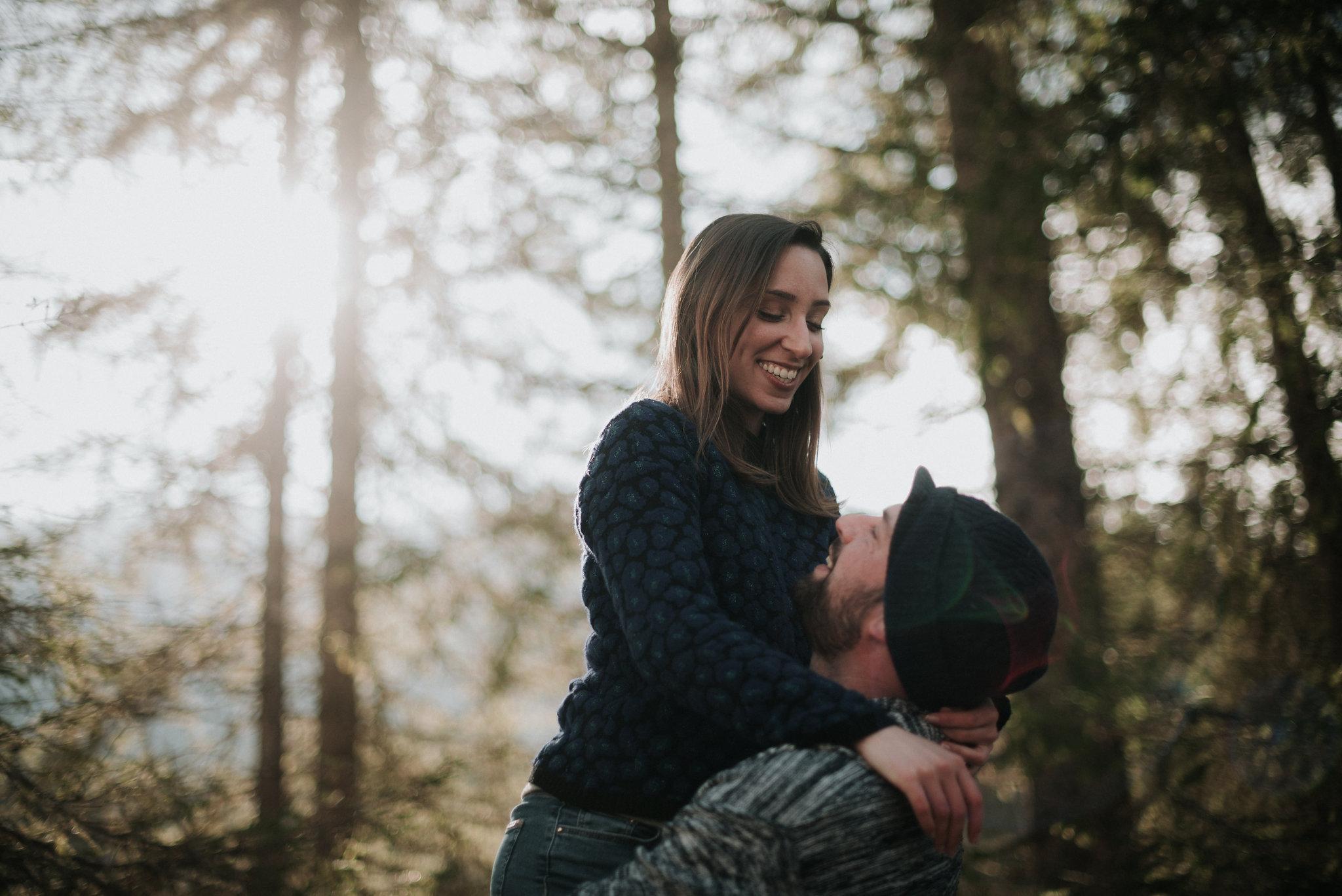 Katy et Antoine - Séance Engagement en Chartreuse