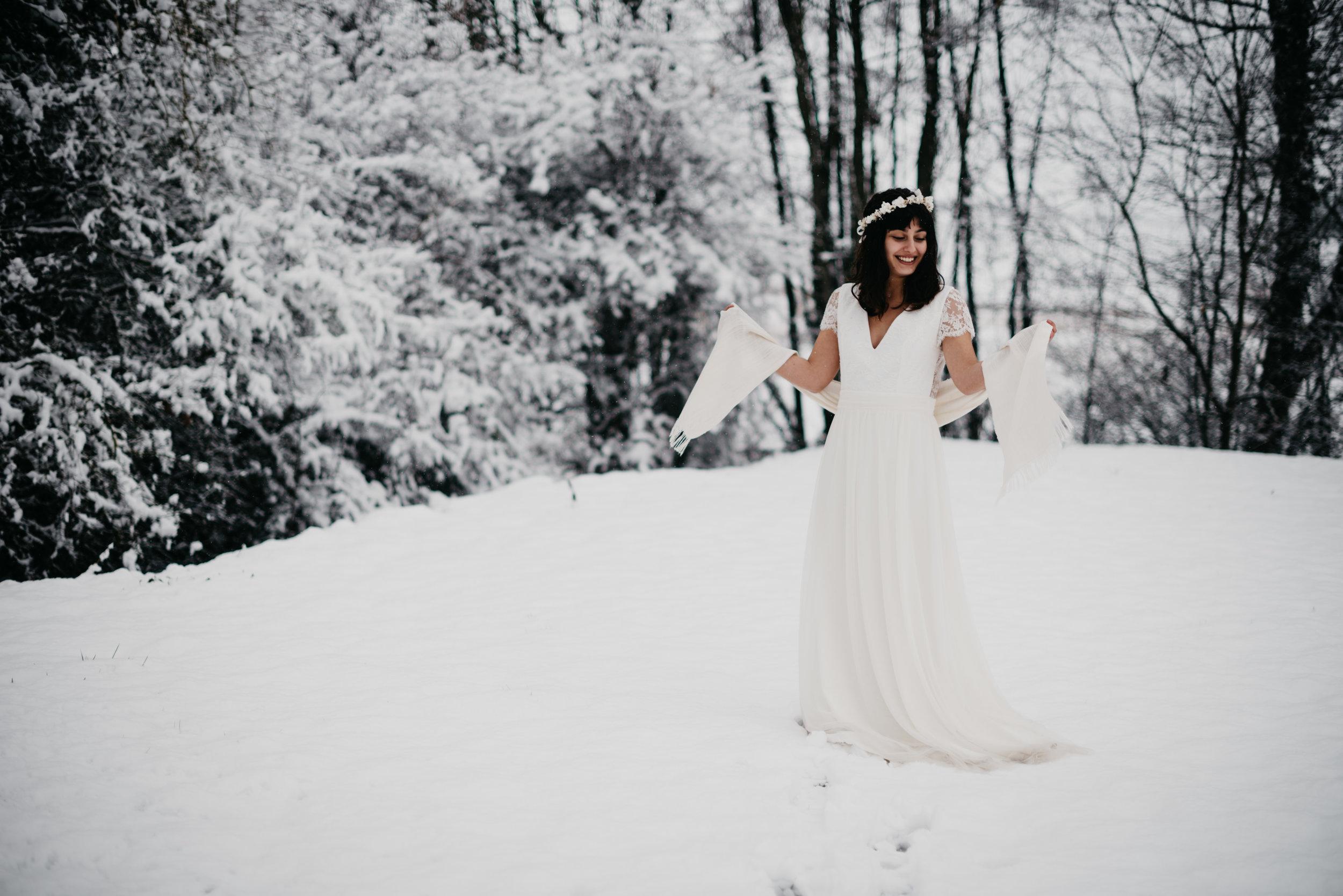 Étoles d'hiver - Kaa Couture - Mariage d'hiver