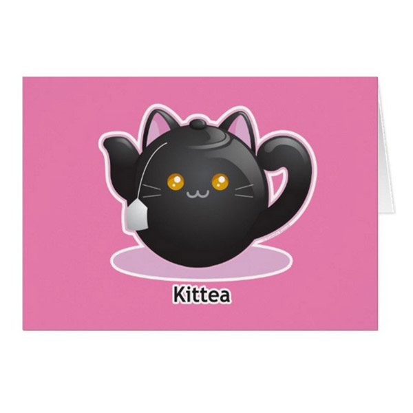 Kittea Greeting Card   on Zazzle  Starting at $2.95