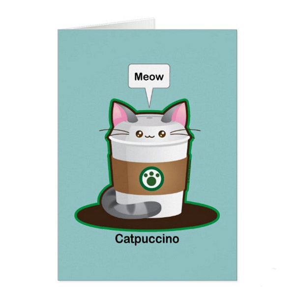 Catpuccino Greeting Card   on Zazzle  Starting at $2.95