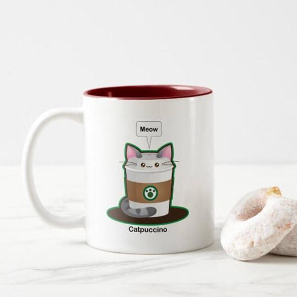 Catpuccino Mug   on Zazzle  Starting at $17.75