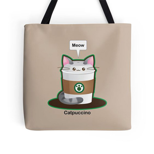 Catpuccino Totes   on Redbubble  Starting $16.00