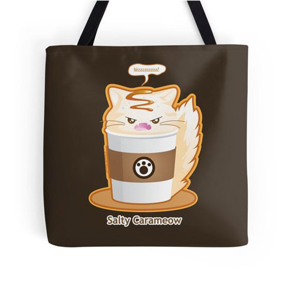 Salty Carameow Totes   on Redbubble  Starting $16.00