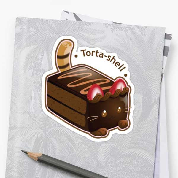 Torta-shell Stickers   on Redbubble  Starting at $2.50