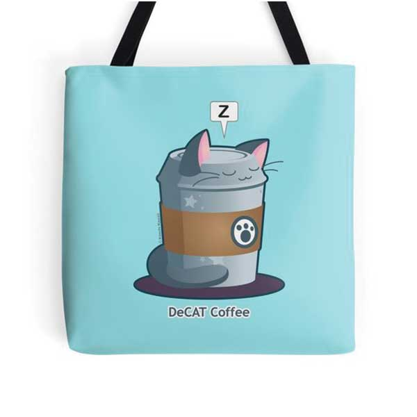 DeCAT Coffee Totes   on Redbubble  Starting at $16.00
