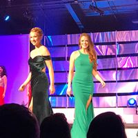 Stephanie and Hannah in the Evening Gown Color Parade.