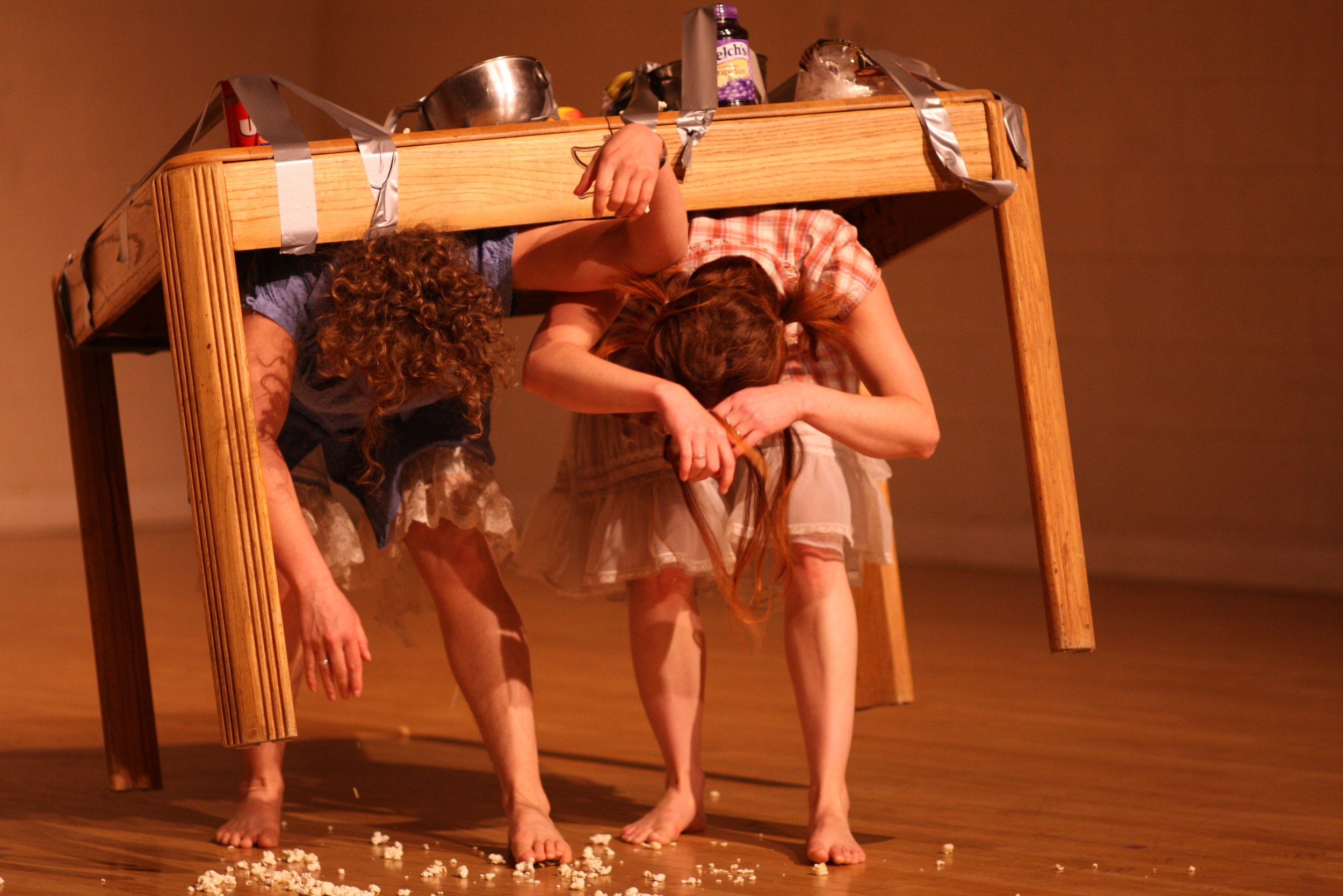 Eating And Dreaming, with Breanna Rogers. Performed in Colorado and ARizona, 2008/2009. Photo by Naropa University Staff.