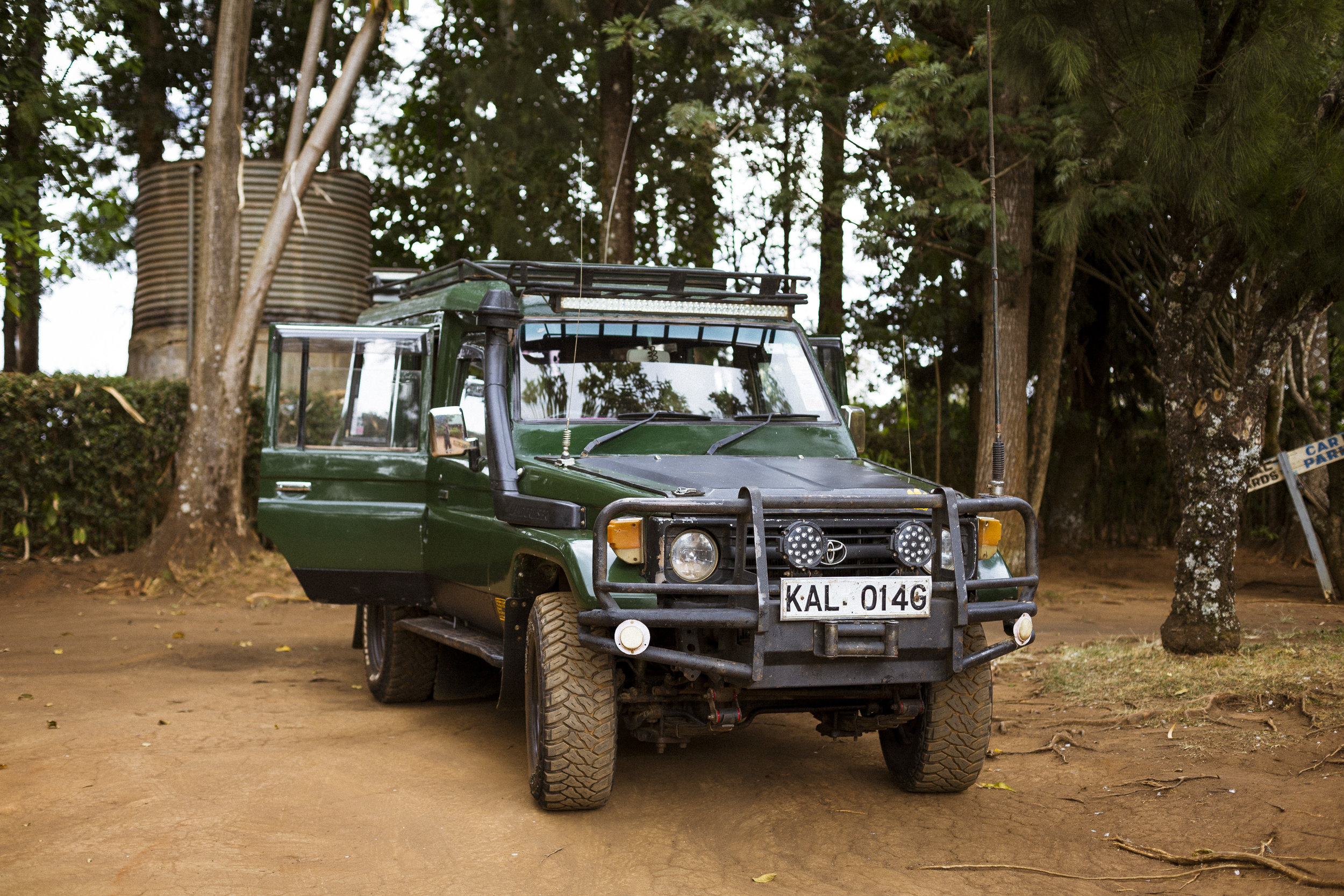And this is his Toyota Land Cruiser that I fell in love with.