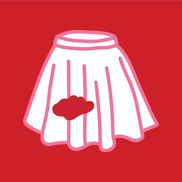 """""""I had to walk from the front of the hall past everyone with a red patch on my white school skirt."""" - Millie M, England 🔴 Read the story """"Oh Skrrrt!"""" on the site! . . . #firstperiodstories #firstperiod #periodstories #period #periodproblems #periodpositive #periodpower #timeofthemonth #menstruation #blood #peoplewithperiods #menstrualhealth #menstruationmatters #red #white #skirt #skrrrt"""