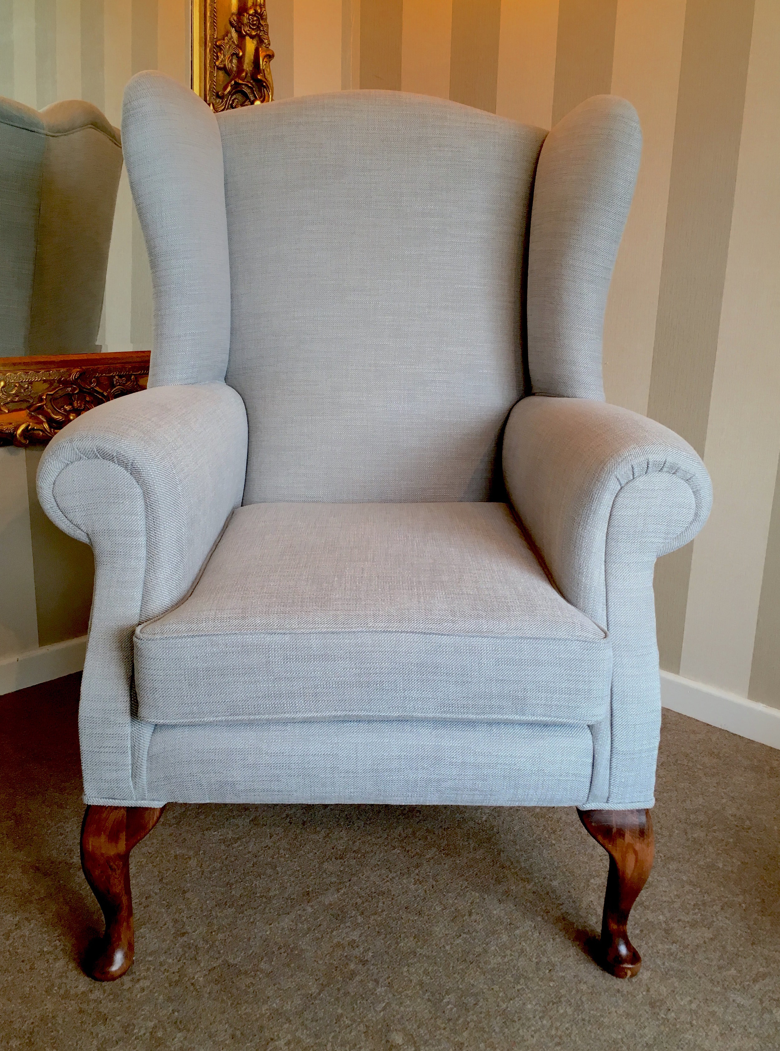 Wing Chair: £360 plus 5 metres of your chosen fabric.