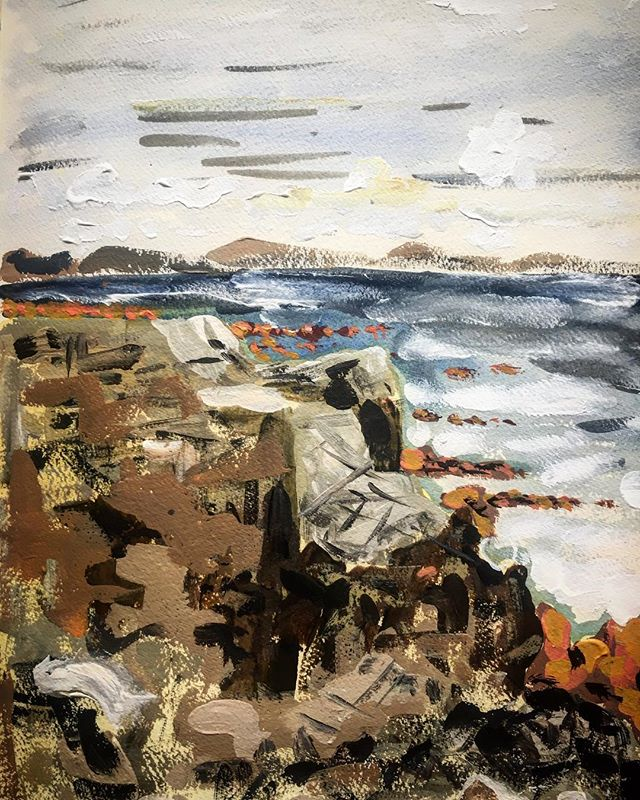 Rocks, sea, wind, horizon, Rossadillisk, Cleggan, Co Galway, Ireland 8/8/18. #paintingoftheday #cleggan #rossadillisk #ireland #art #design #interiors #peace #love #it #affordableart #affordableartfair #decorativefair