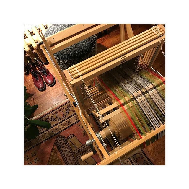 studio views | threading continues on the Sullivan tartan | design begins to emerge | work in progress • • • #zoltnerwolftextiles #handwoven #finecraft #springcollection #slowfashion #handmade #wip #studioprocess #traditionalcraft #makersmovement #americancraftsman #weaversofinstagram #customproject #silk #osullivanmaccragh #tartan #madewithlove