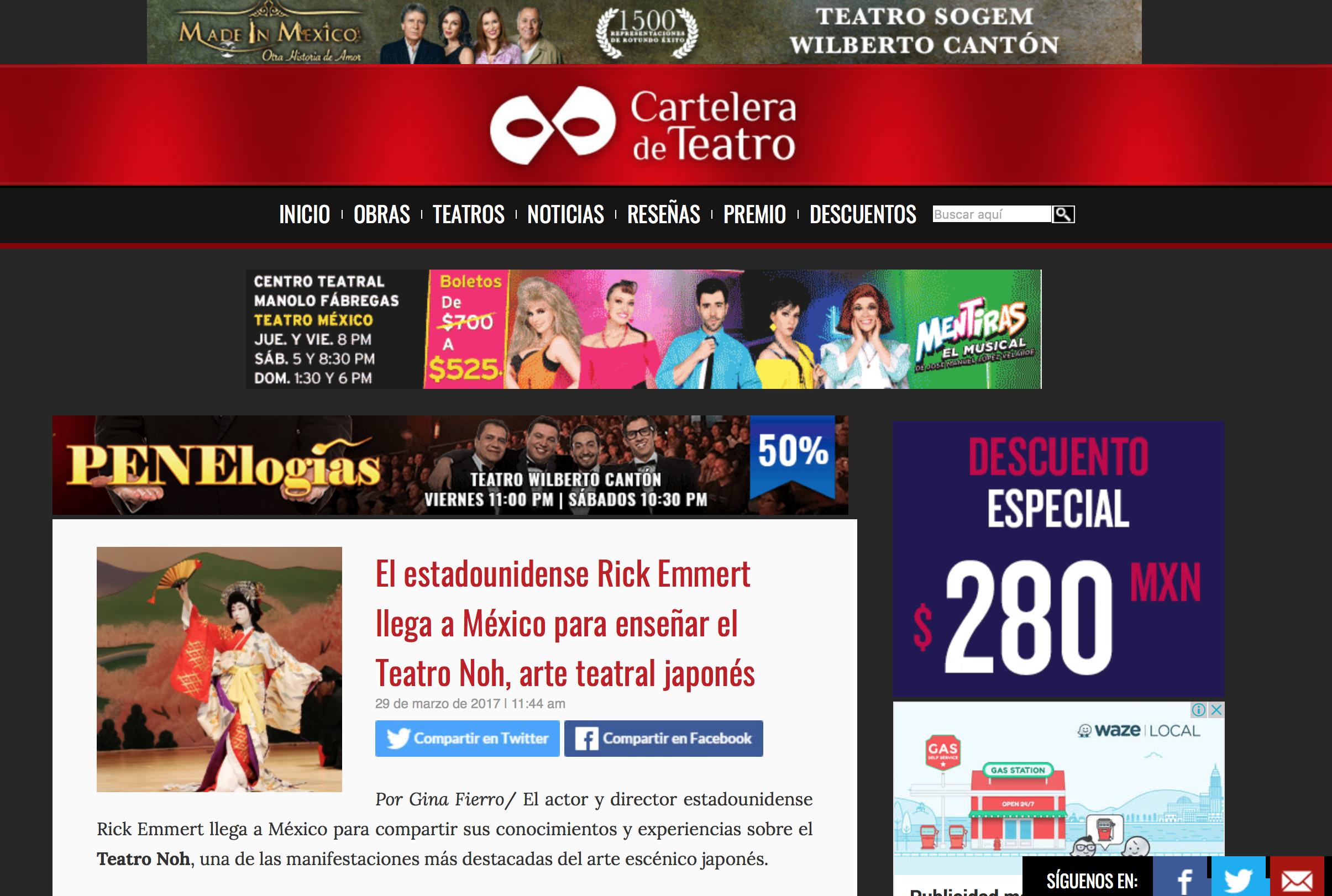 Prensa / Cartelera de Teatro -