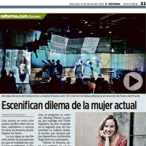 Entrevista Periódico Reforma -