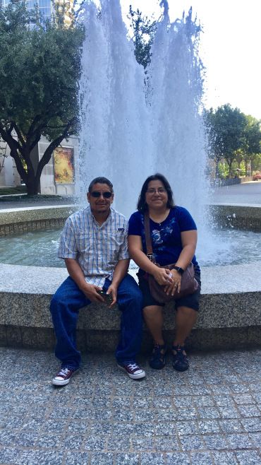 The Mexican-American couple I chatted with.