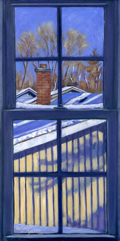 Bluebird Winter Day - Studio View