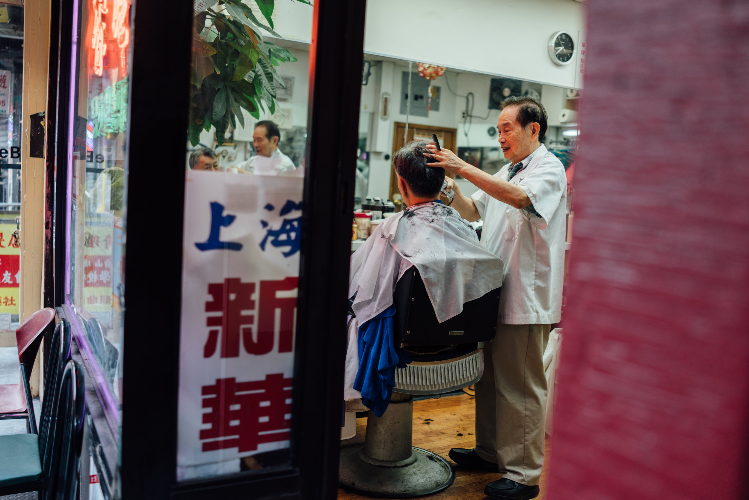 Barbers are busy on weekends