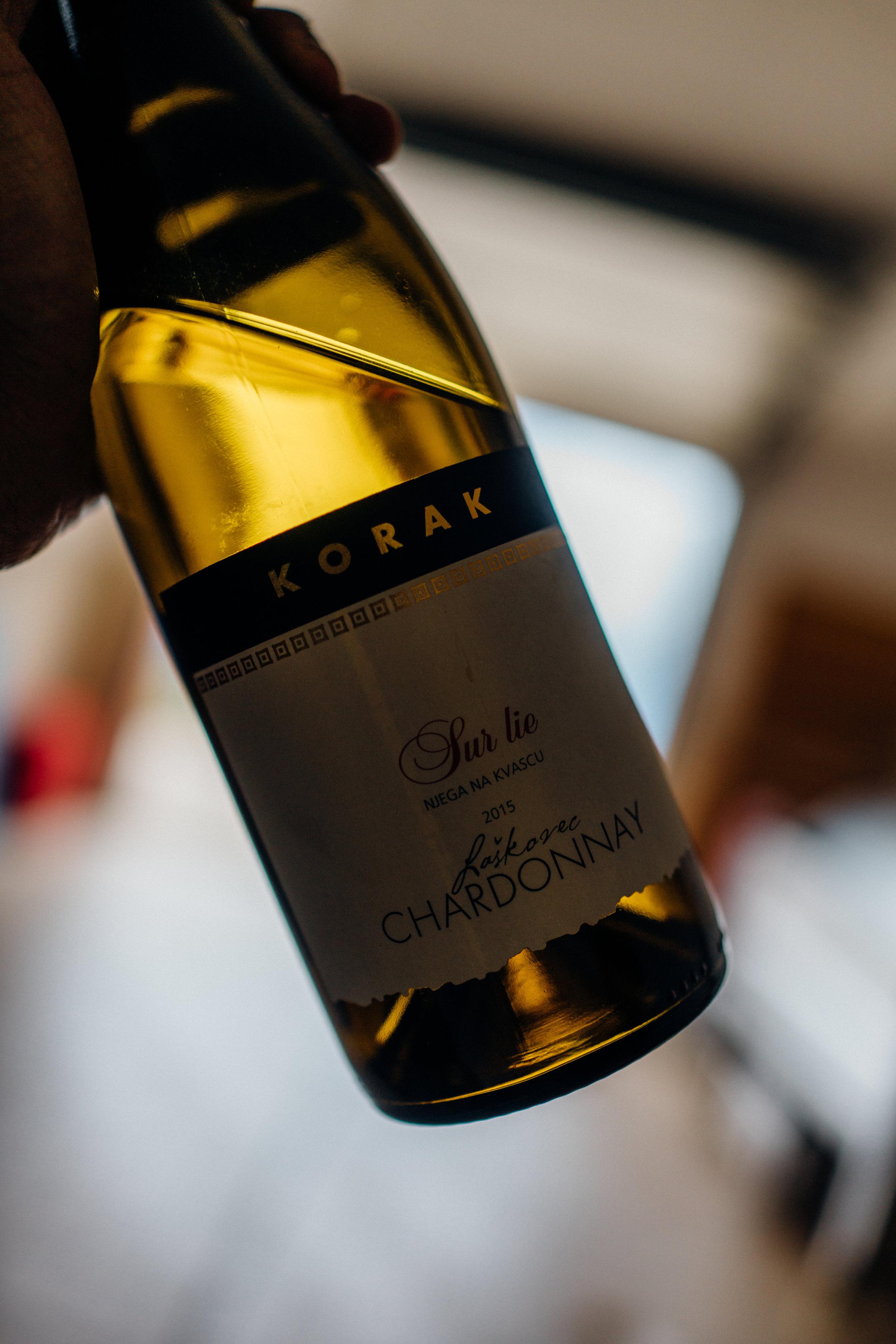 """2015 Laškorec Chardonnay """"sur lie"""""""