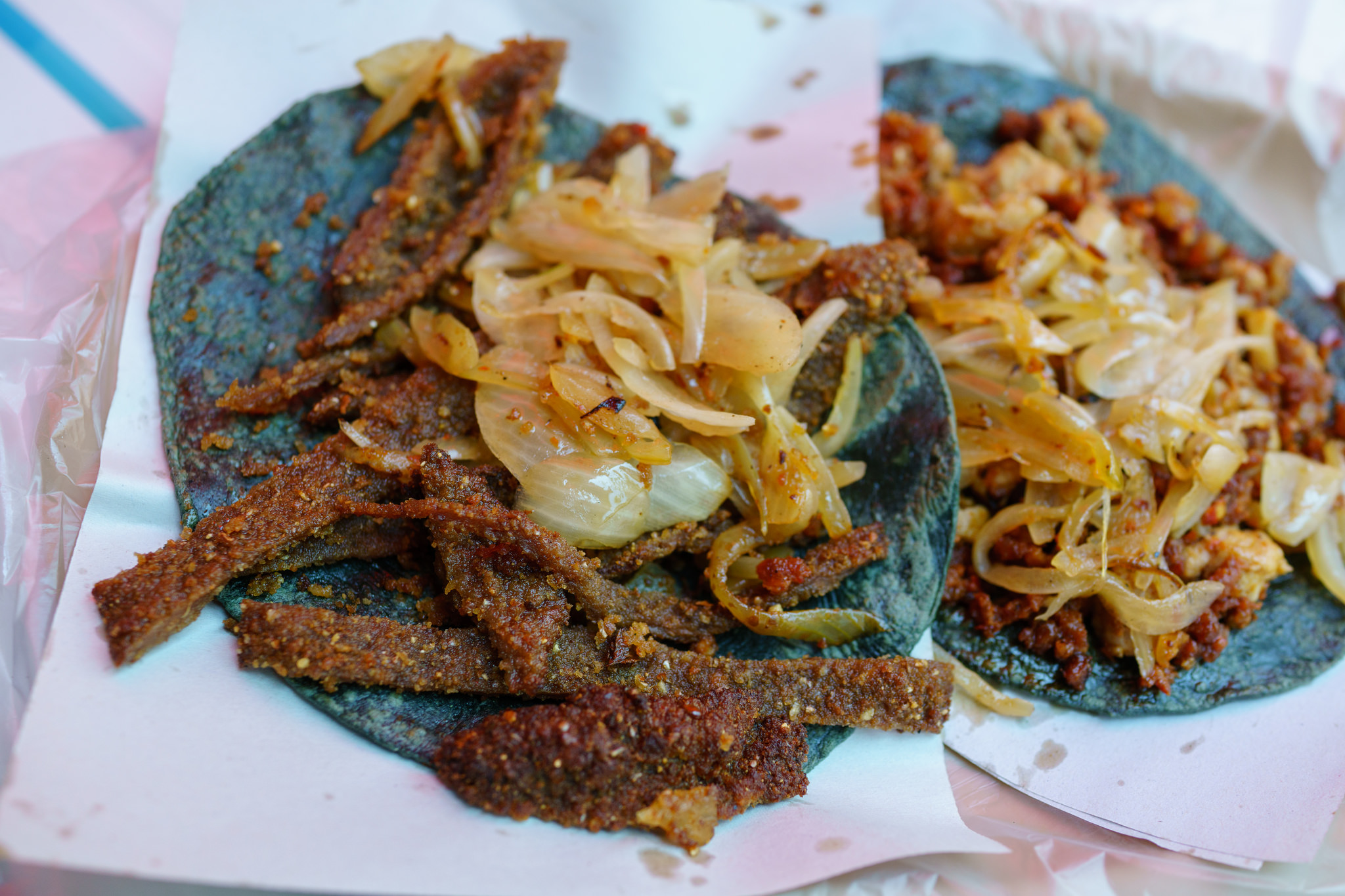 Tacos Milanesa on the streets of Roma