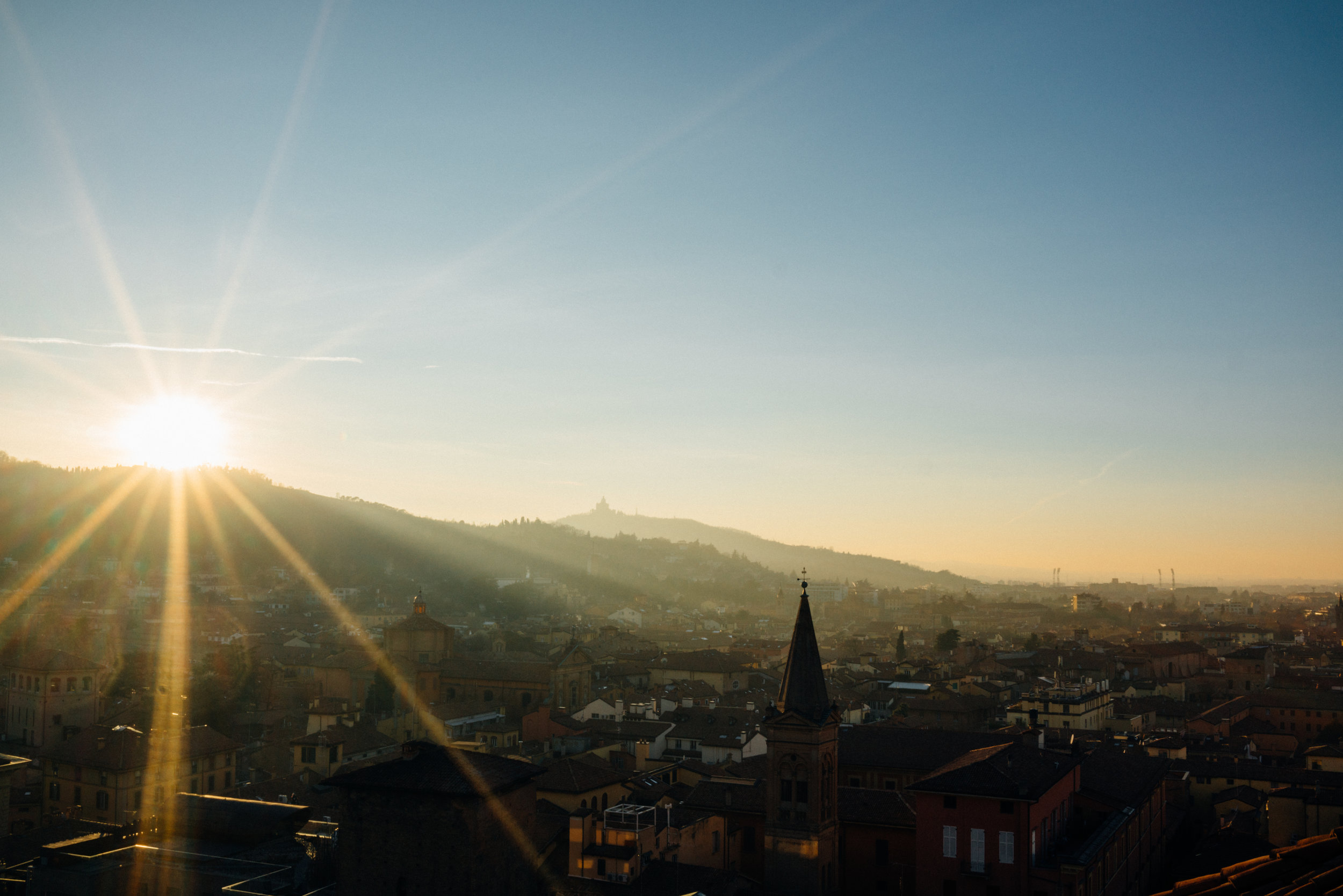 Bologna, looking west, from Basilica di San Petronio