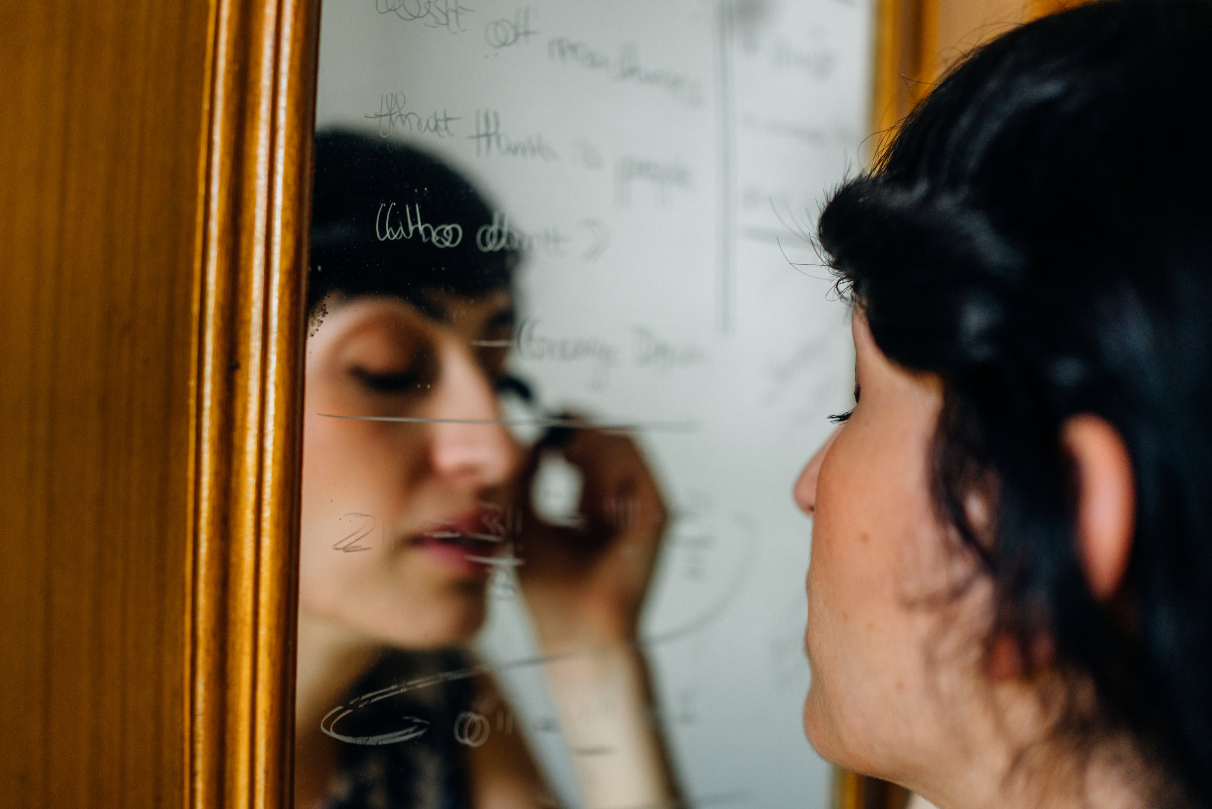 Behind the mirror, words. Behind the mirror, enigma. Beyond the mirror, World.