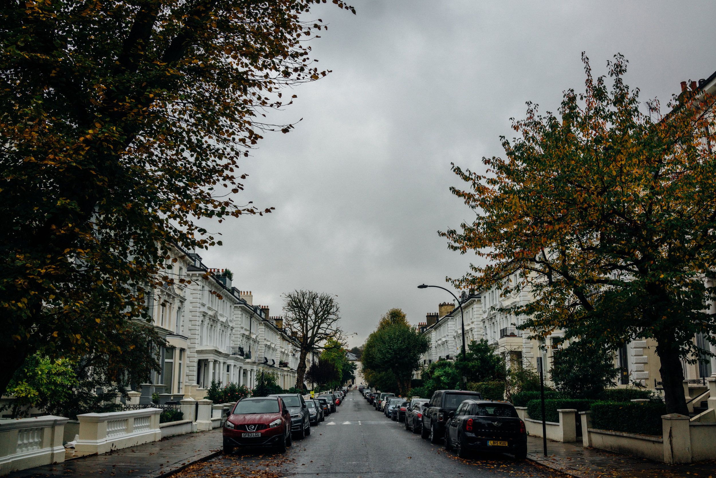 Belsize Park on a rainy fall afternoon