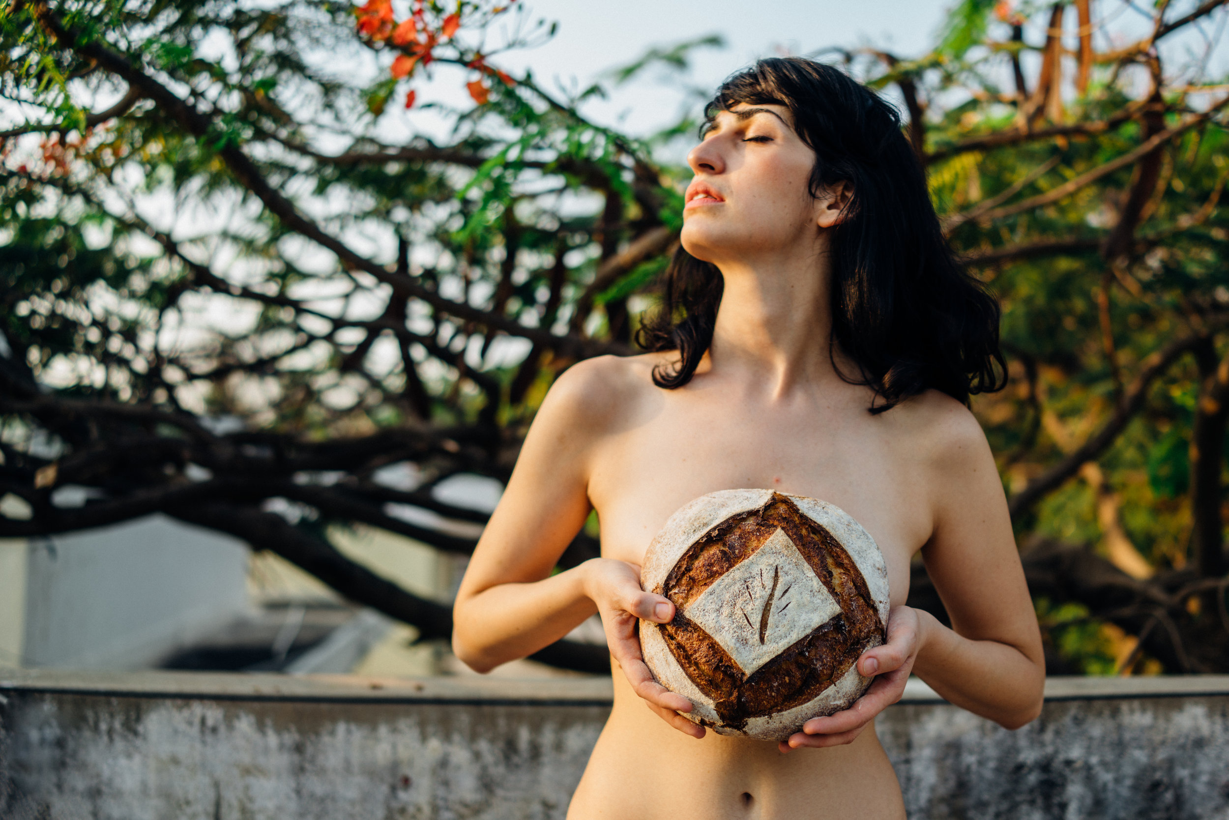 Maria Elena with Krumb Kraft's Sourdough Boule