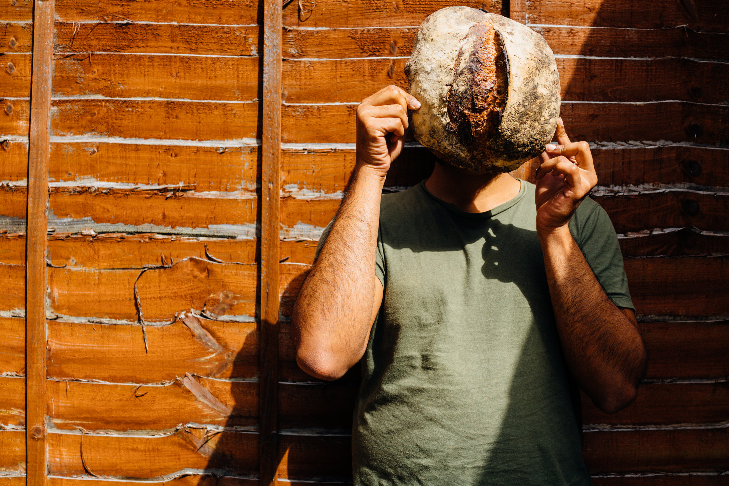 My brother  Vinod Pillai , with Dusty Knucle's sourdough