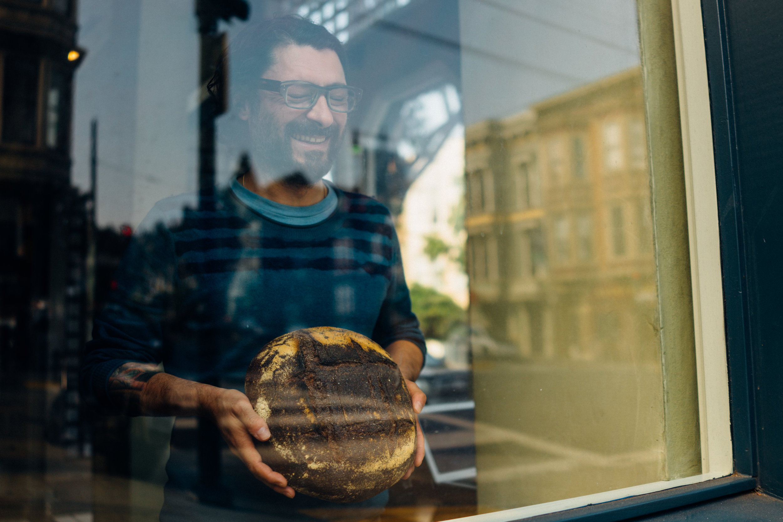 My friend Patrick Jean with Midwife and The Baker's 100% Whole Glenn Wheat in San Francisco, CA