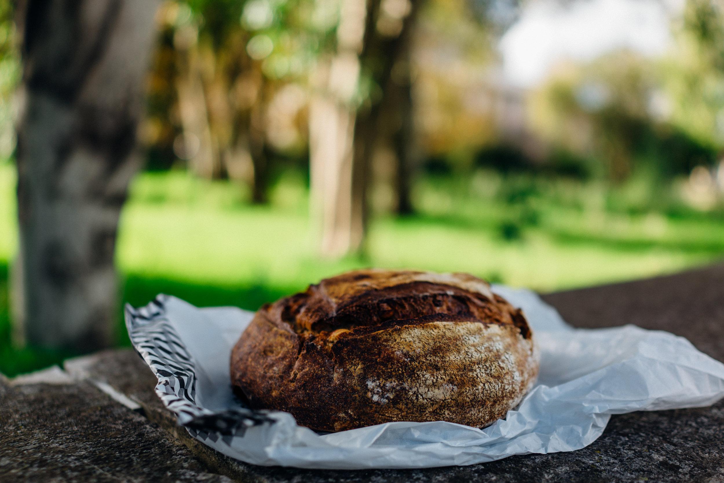 A loaf of A Padaria Portuguesa – LAB's Pão de Castanhas or Chestnut Bread