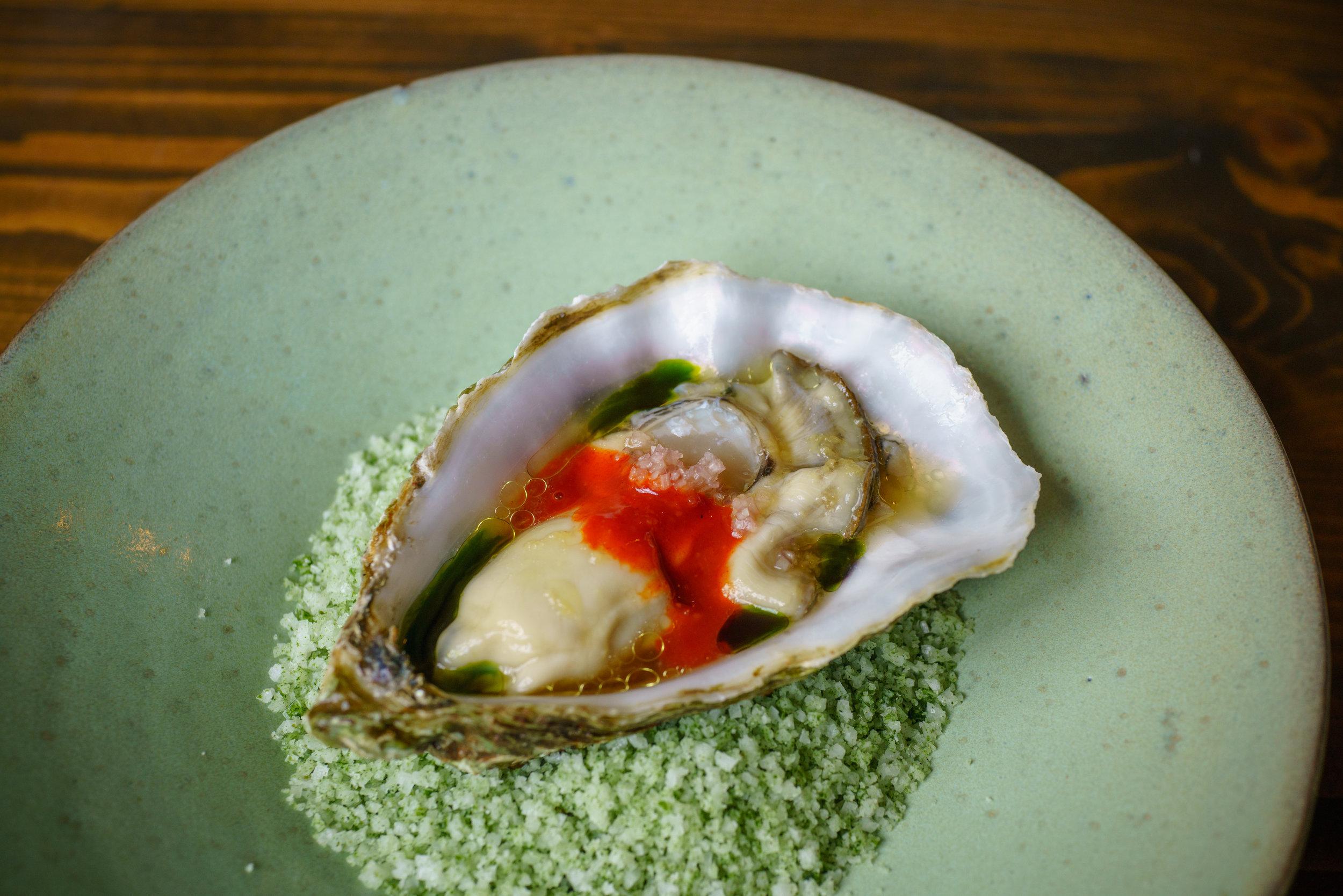 Oyster, Ginger and Lemon, Gochujang