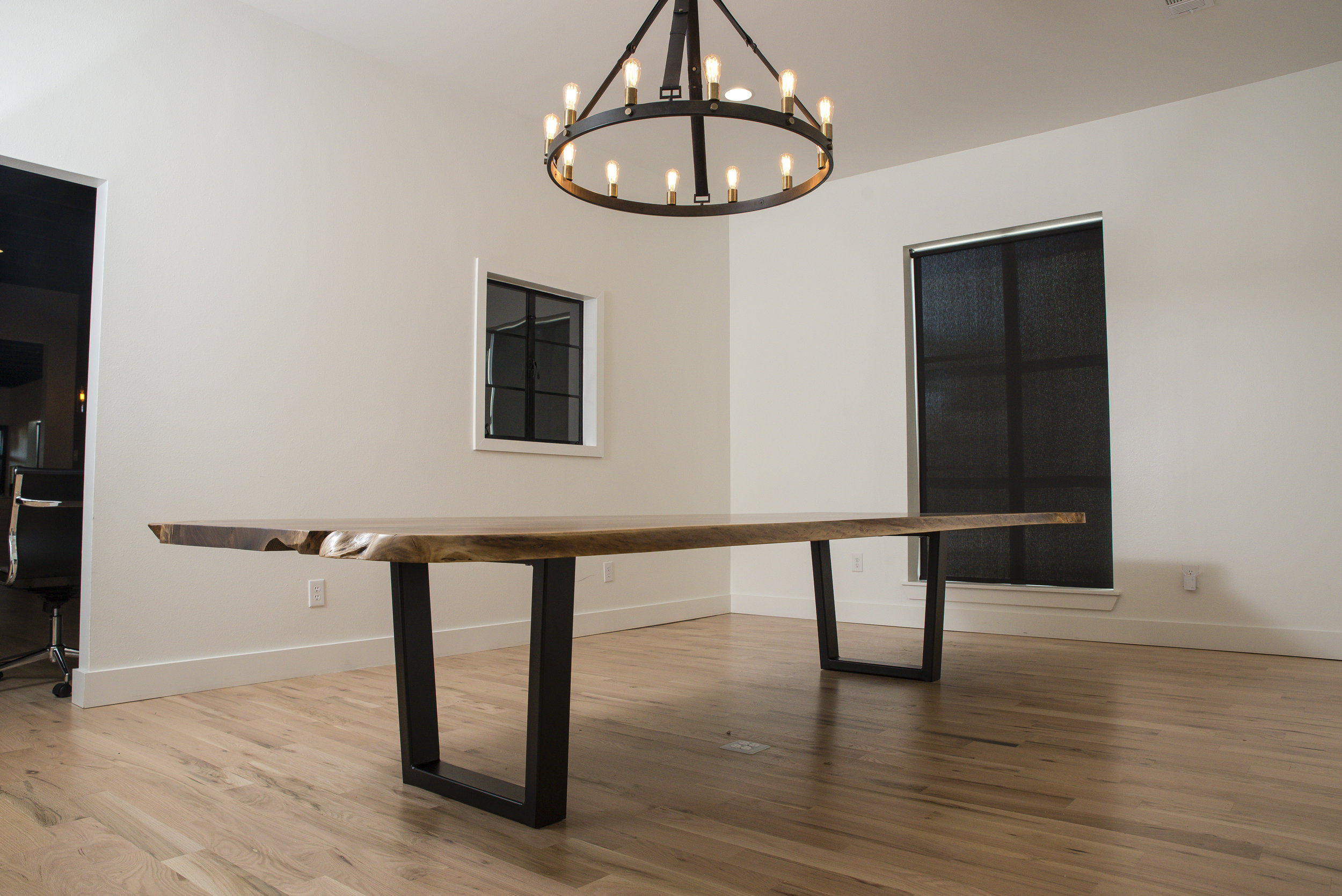 Live Edge Walnut Conference table. - Many different sizes available as well as many different finishes. Please contact for more information.