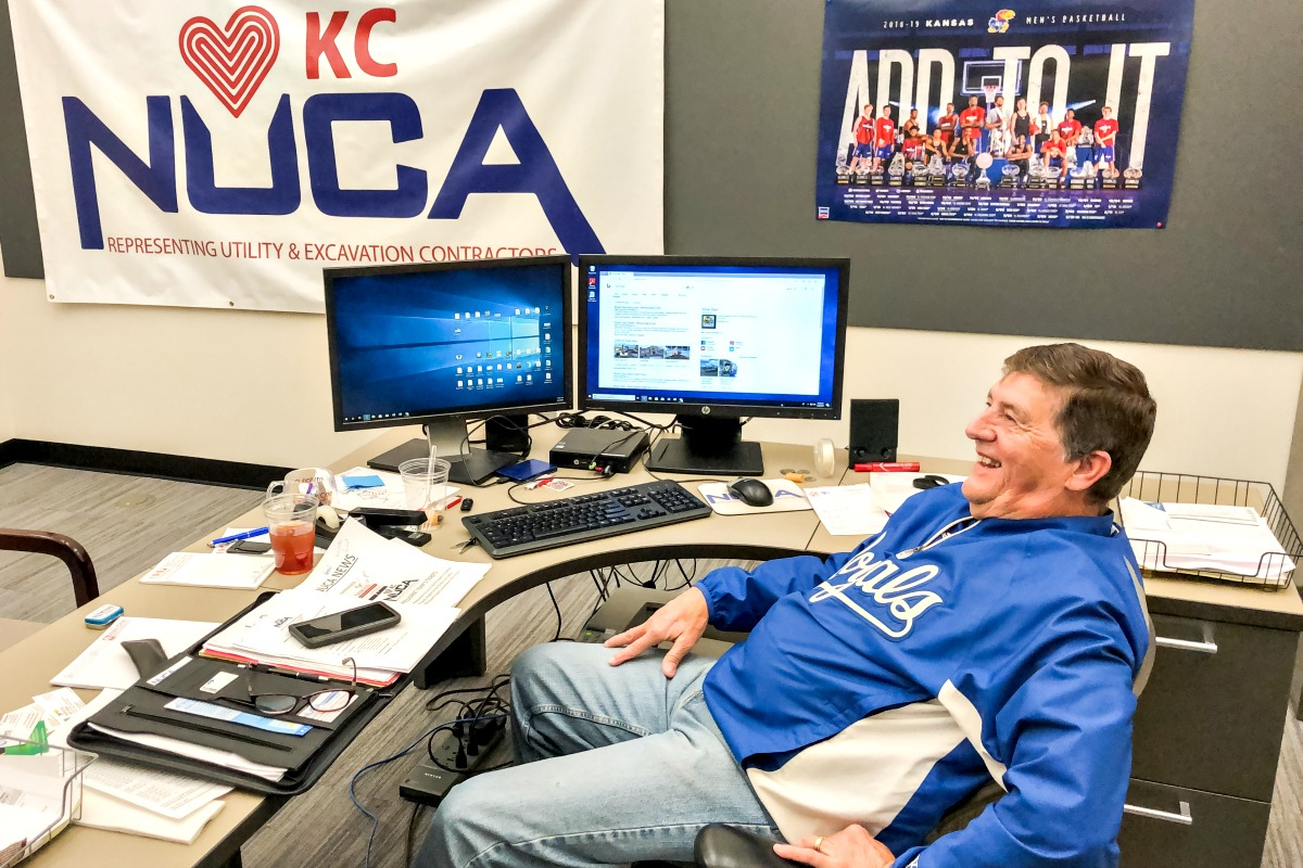 NUCA KC Executive Director Mac Andrew's office is currently located at Mark One Electric in Kansas City, Missouri.