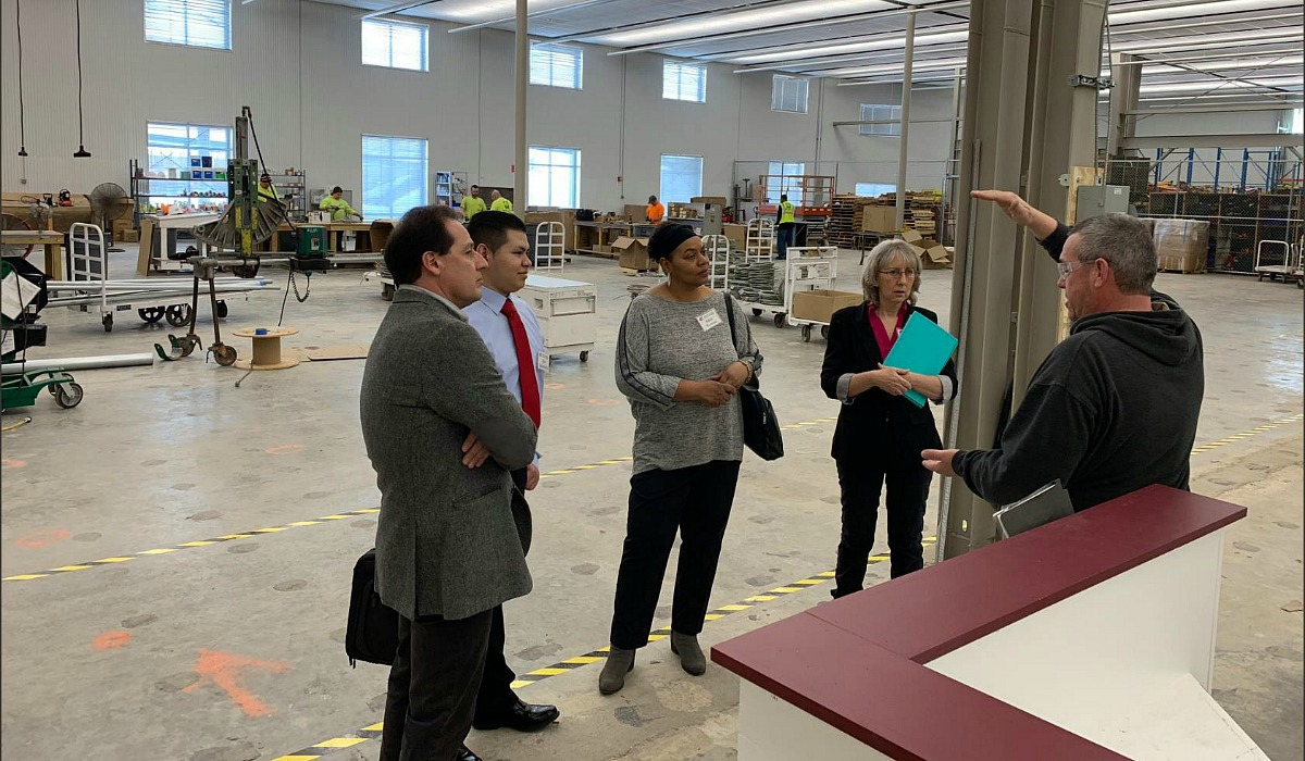 KCK Community College students touring Mark One Electric headquarters
