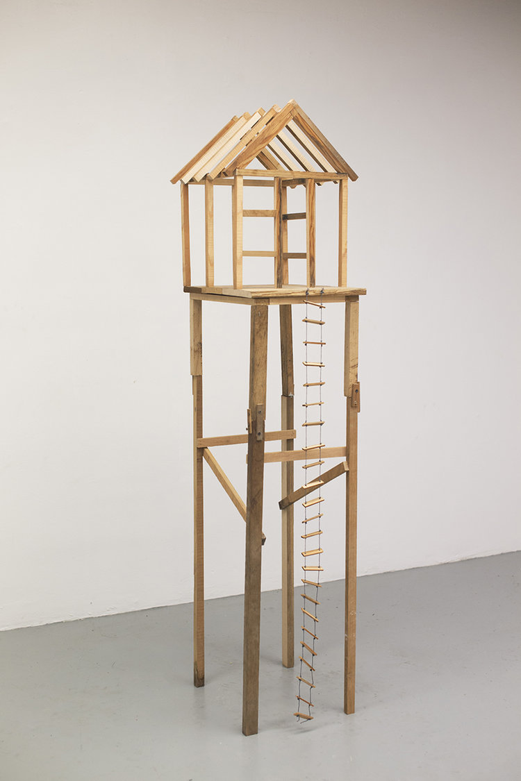 Isabella Guttuso, Foundations - reclaimed wood, nails, string