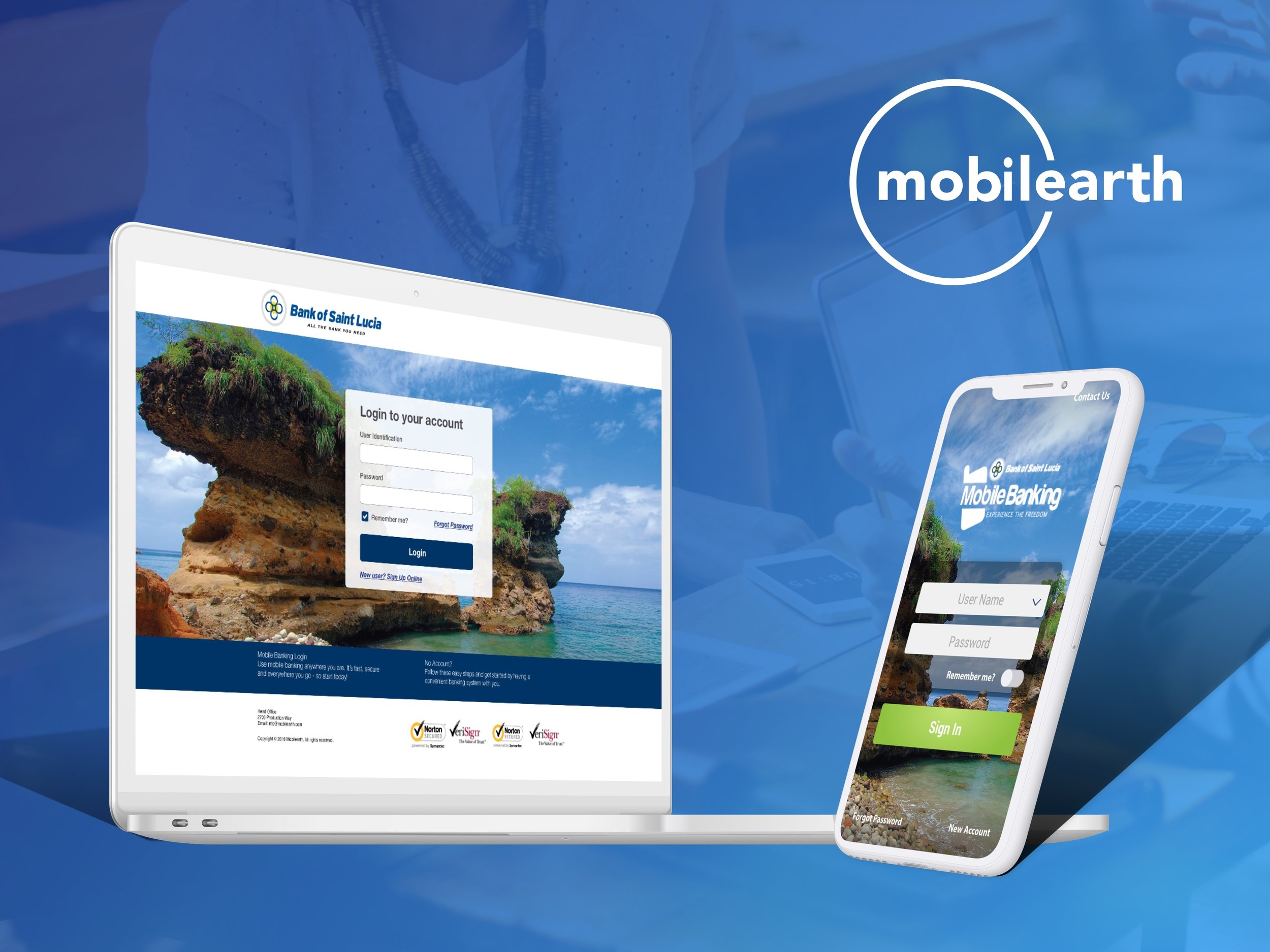 Bank of Saint Lucia Web and Mobile banking
