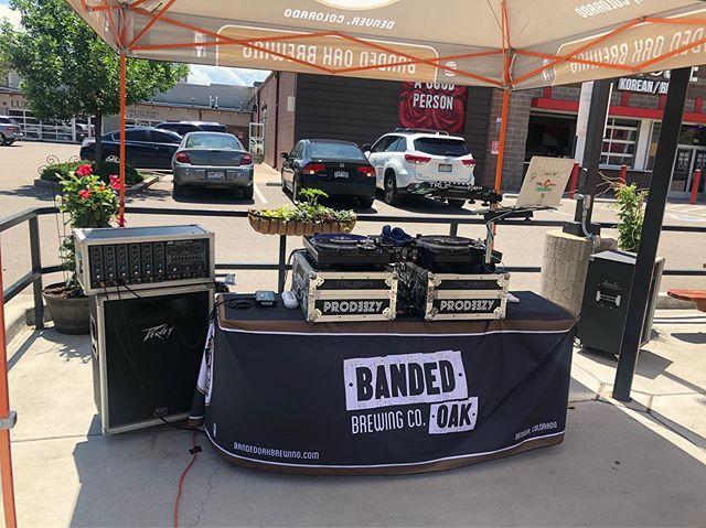 Set up at Banded Oak Brewing 💀🤙🏼 #prodeezy #bandedoakbrewing