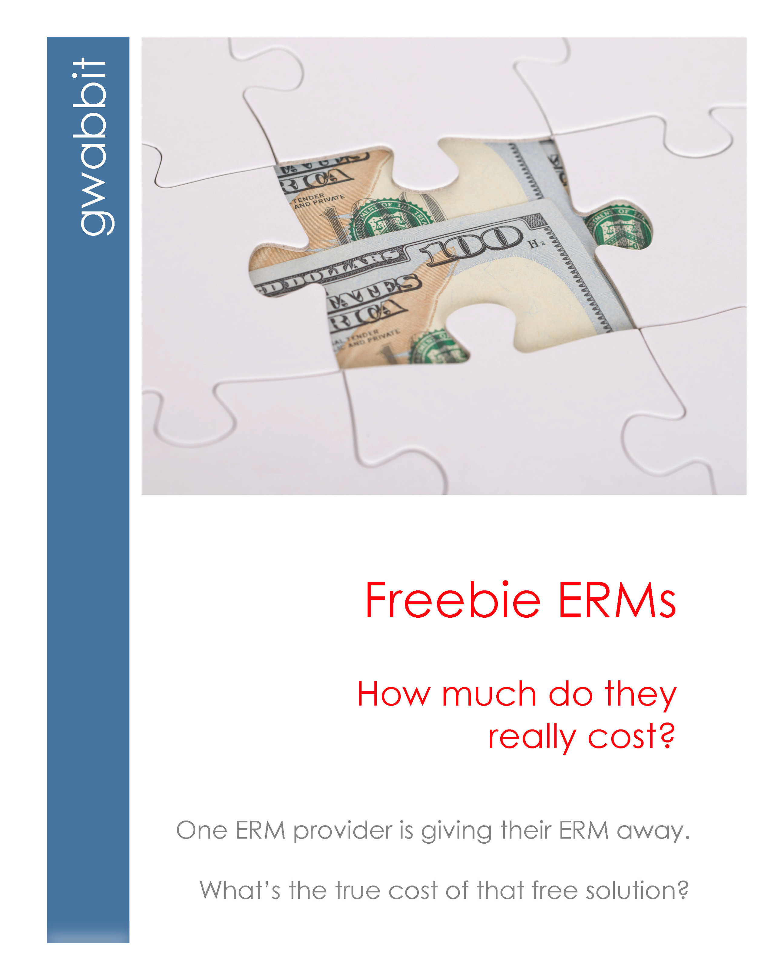 "Did you know that the freebie ERM is the world's only ERM that doesn't include ERM reports?   There's much more. Download our report ""Freebie ERMs: How much do they really cost"""