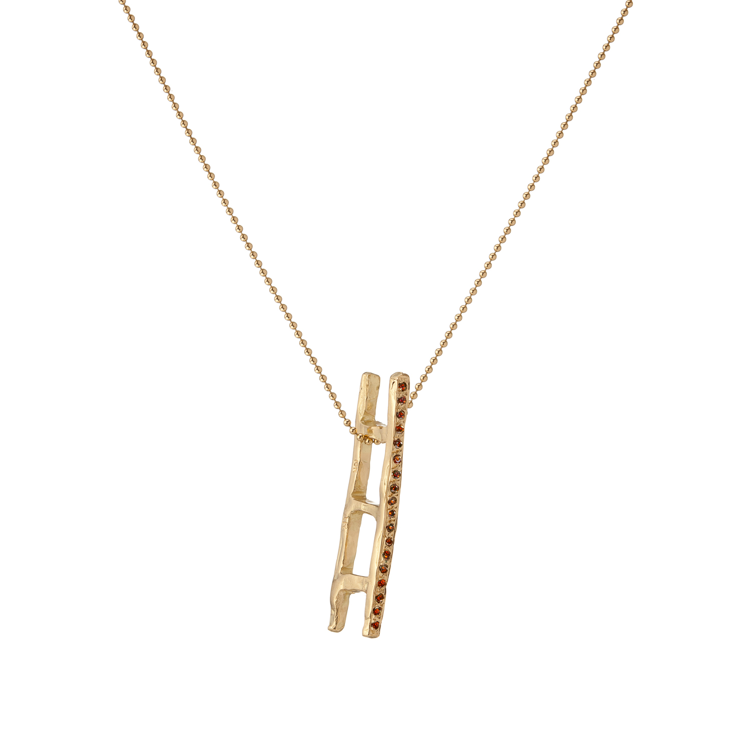Ladder | 18k gold and cognac diamonds