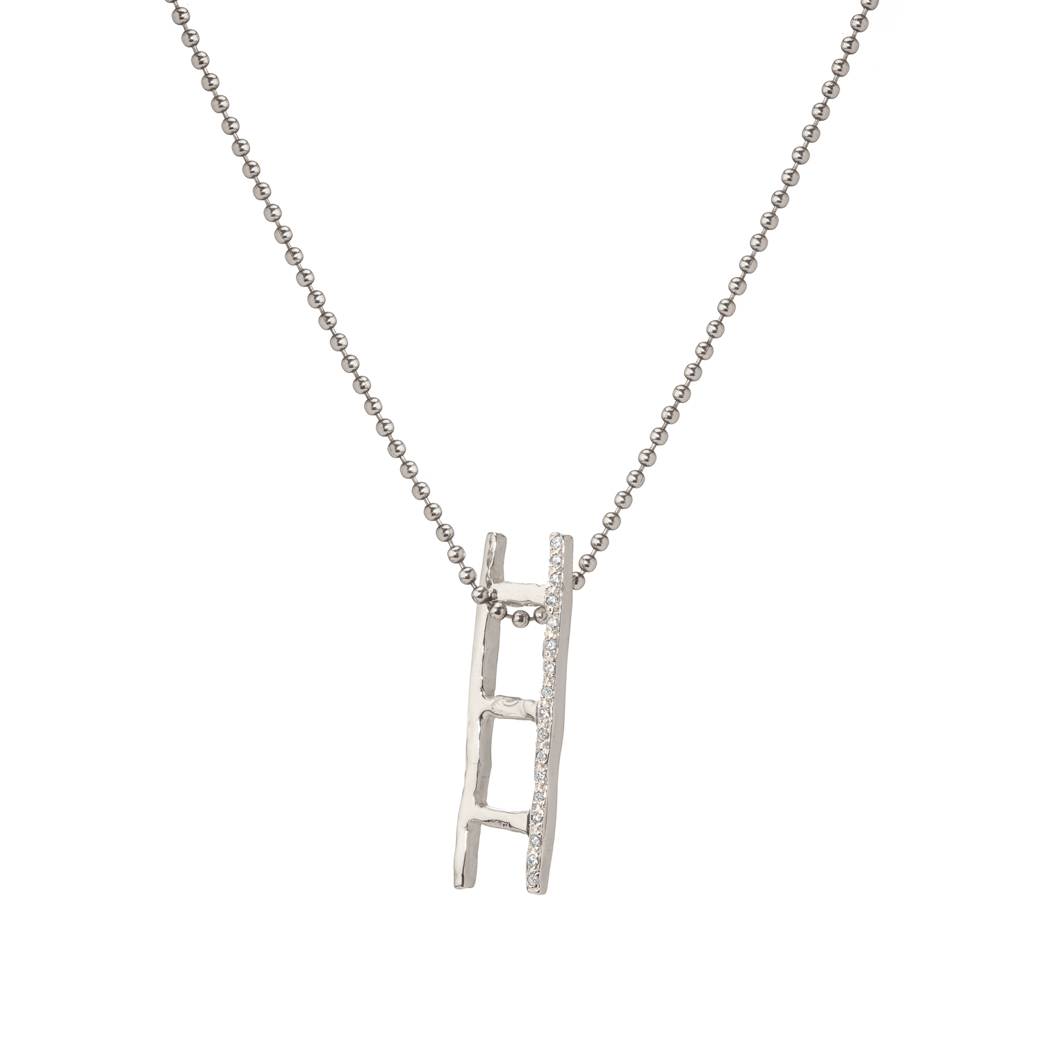 Ladder | sterling silver and grey diamonds