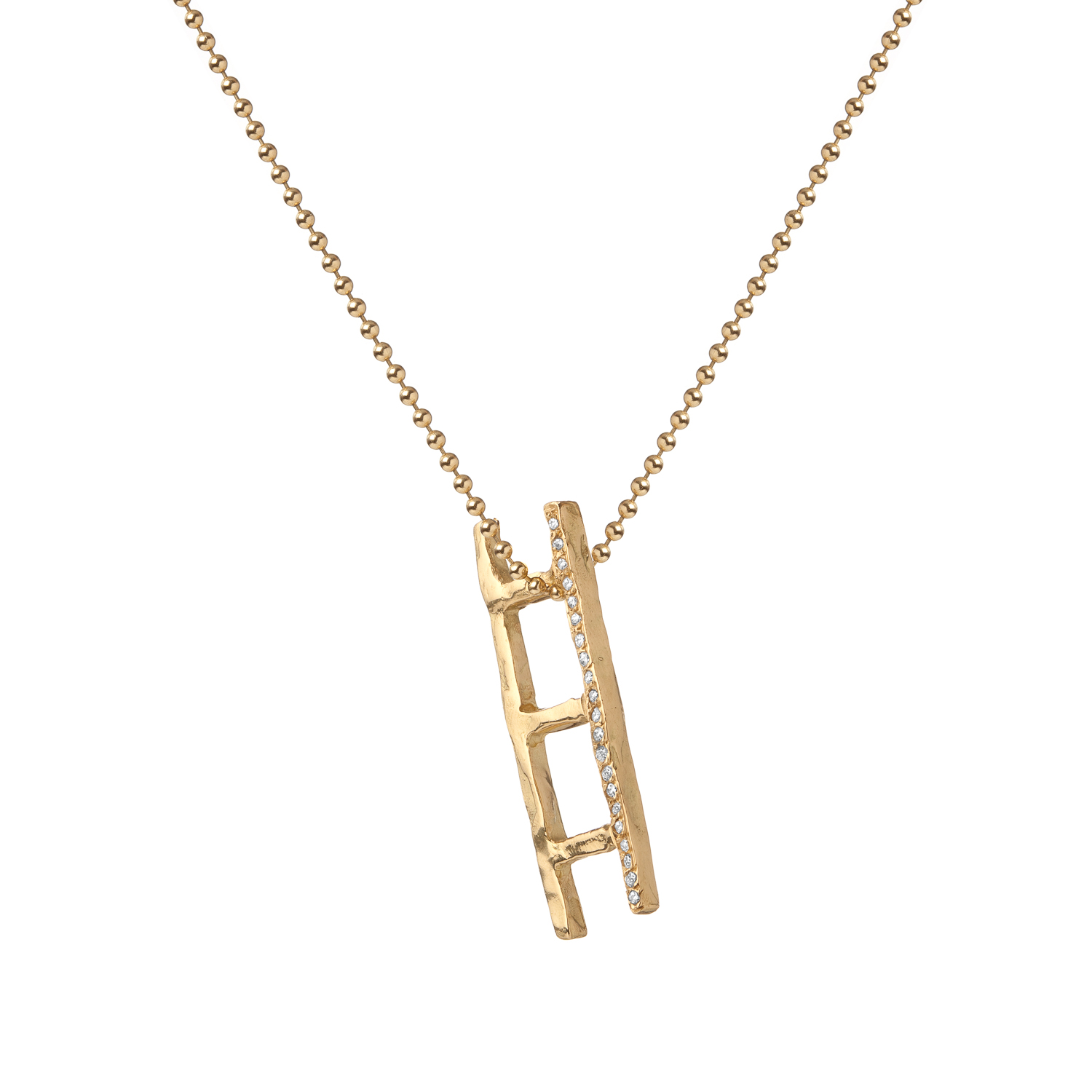 Ladder | 18k gold and white diamonds