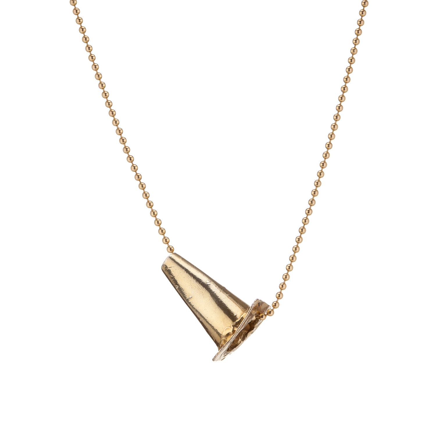 Traffic cone | 18k yellow gold