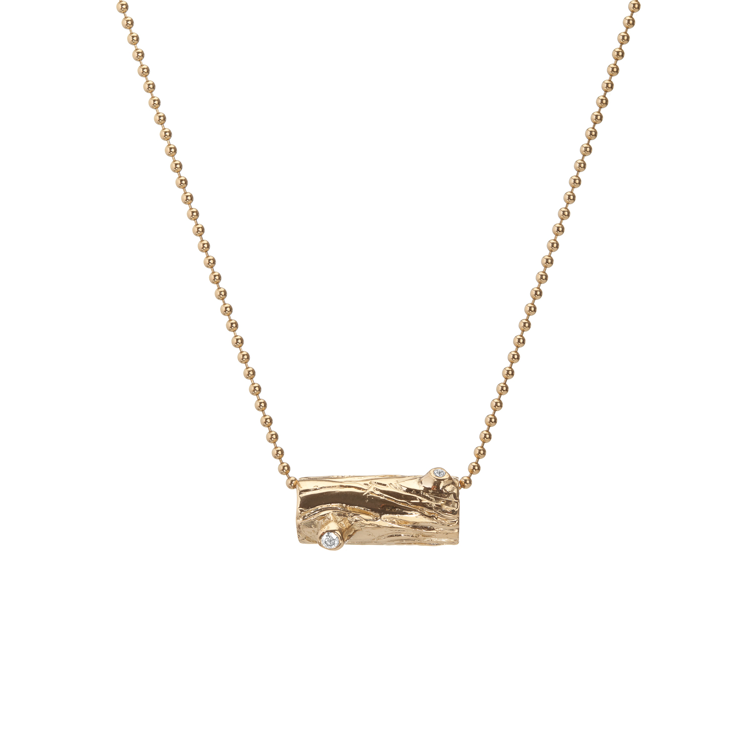Log | 18k gold and white diamonds