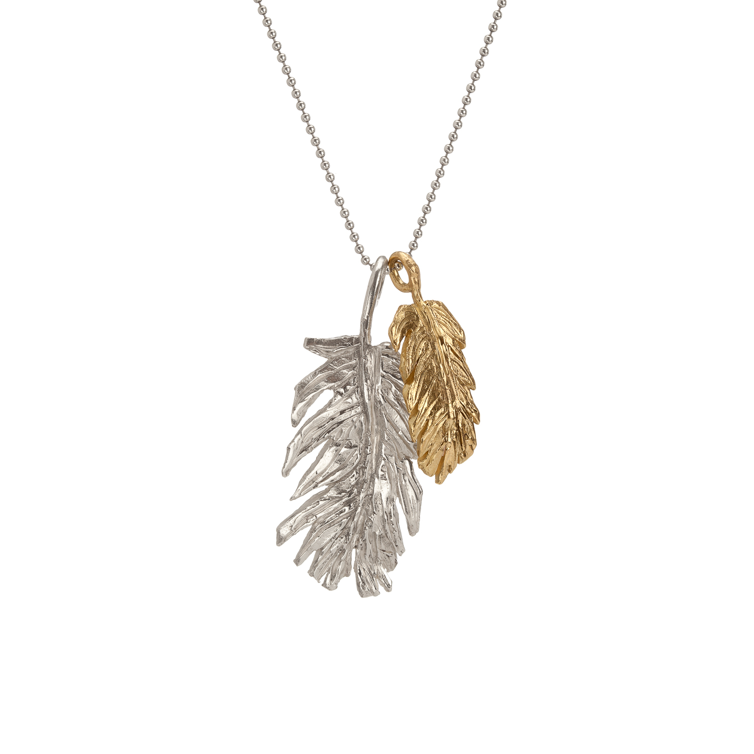 Feather | 18k gold and sterling silver