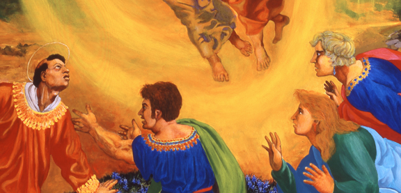 The Stoning of St Stephen (detail)