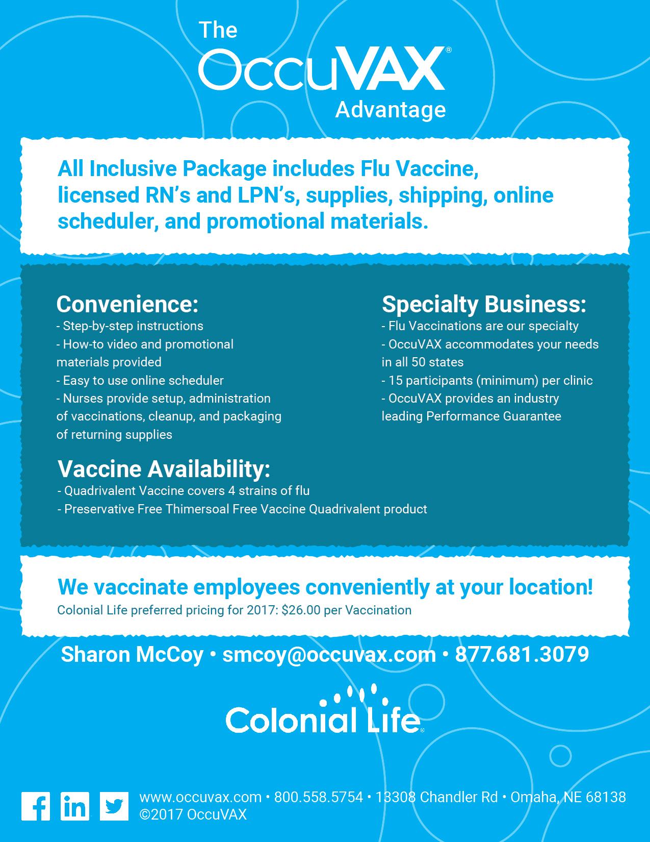 The Occuvax Advantage flyer -