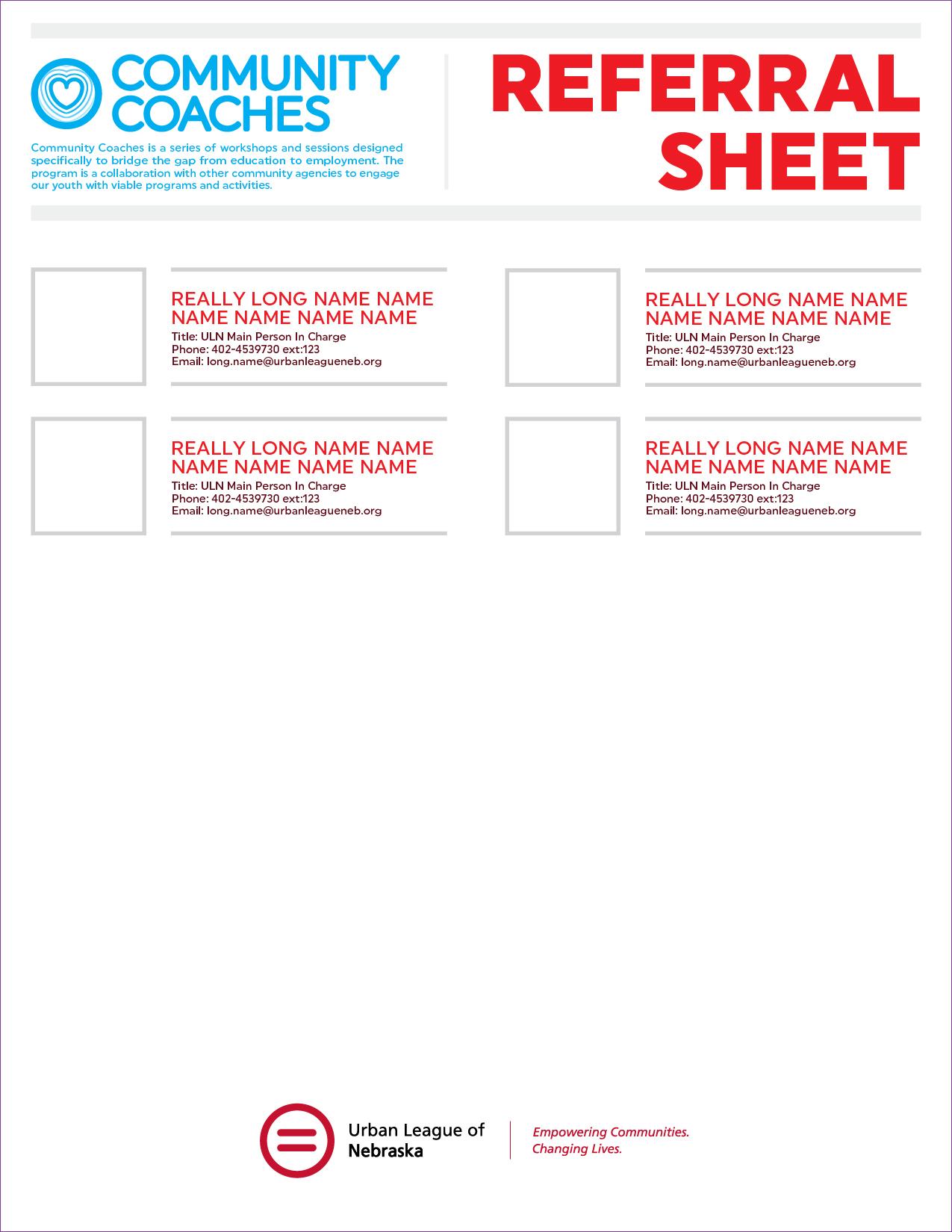 Referral Sheet -