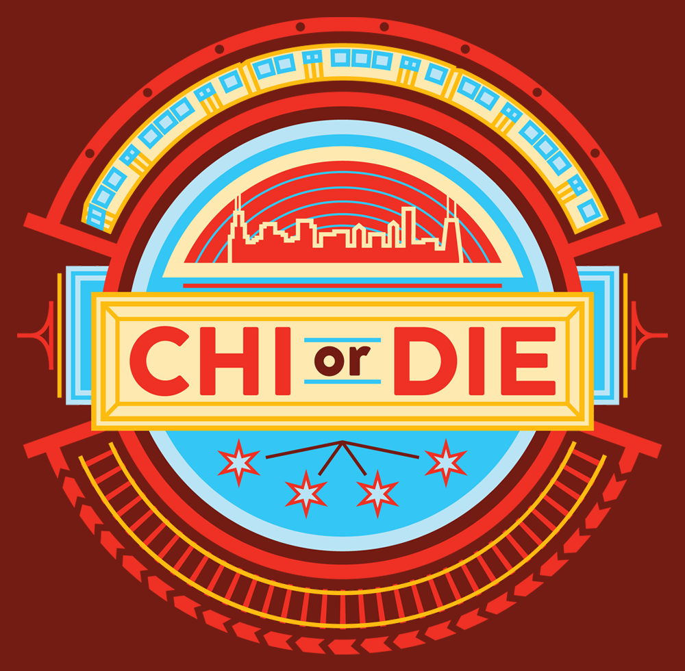 Chi or Die - Chi or Die is an upcoming lifestyle brand & blog based out of Chicago. Concept: Incorporate lots of everyday imagery seen on the streets within the logo itself. The line work is reminiscent of the city's iconic architecture & the color palate is based on the flag of Chicago.